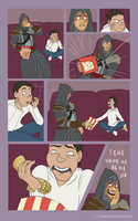 Movie night with grandpa Ezio by LilayM