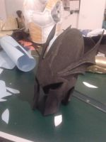 WIP Dragon Prince of Caledor armor: Helm by DocSkavenger