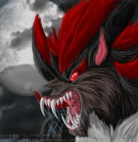 Shadow Werehog speedpainting by DCWyverx