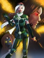 Rogue's New Look Colored by JamieFayX