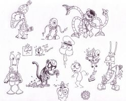 Character Drawings by Splapp-me-do