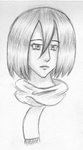 First Mikasa Drawing by mashaheart