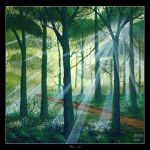 Deep Forest Lights by Clu-art