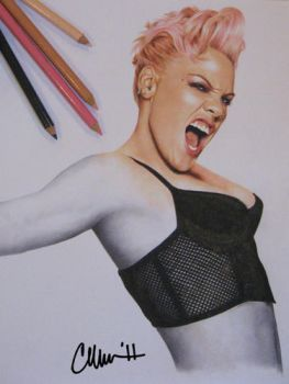 Pink Drawing by Live4ArtInLA