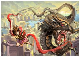 Fight in the city by dothaithanh