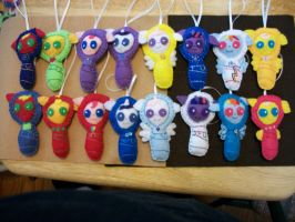 Baby Pony Handsewn Ornaments by grandmoonma