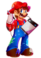 Mario Paint by BaconBloodFire