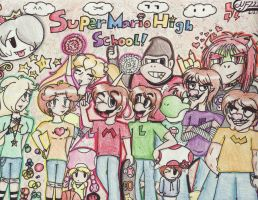 Super Mario High School by nintendofreak222