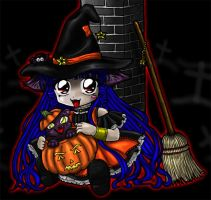A Very Chibi Halloween DETAIL by Leara