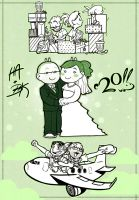 Wedding Drawings by HeidiArnhold