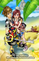 Sora and Kairi by WesleyDA