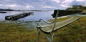 Bench by the sea... by Pharaun333