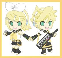 rin and len kagamine by fureki