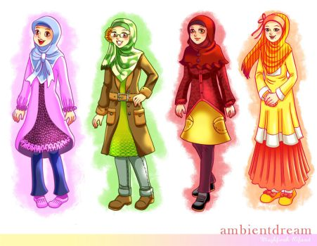 muslimah character design by ambientdream