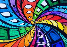 Tunnel of colour by 2tehmax