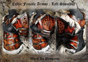 Celtic Female Armor Shoulder - WIP by Deakath