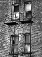 Fire Escape I by ArtByASmith