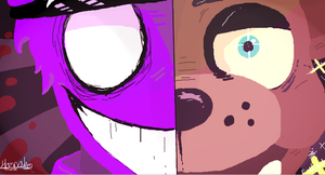 Iscribble doodle - Purple Guy and Freddy by Sniperisawesome