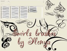 :. Swirls brushes .: by violet-electric
