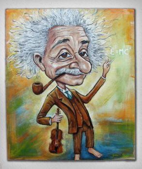 Albert Einstein caricature by Caricatureart