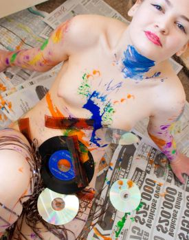 Mixed Media Nude 05 by pHotOPuNK82