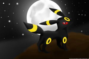 Umbreon painted by Veves