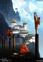 BUSHIDO: Temple of Ro-Kan by JackEavesArt