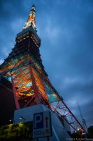 Base of Tokyo Tower by UltraSonicUSA