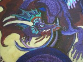 Close up Blue Dragon Drum by Shadowind