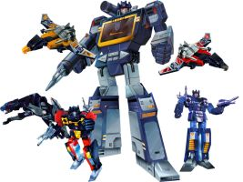 Masterpiece Soundwave and Cassettes Group Shot by Draconis130