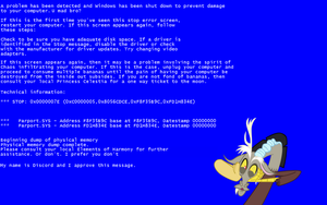 Discord BSoD Wallpaper by postcrusade