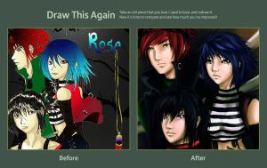 redraw this again and surprise~~ by chromic7sky