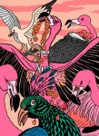 Pink - The Flamingo King and the Peacock Groom by The-Darkwolf