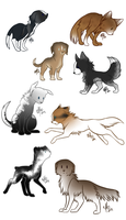 Chibi Puppy  Point Adopts by Reids-of-Chaos