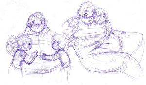 Michael Belly Sketches by sax-loves-fat