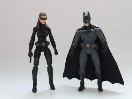 Bat and Cat (four inch scale customs) by Jedd-the-Jedi