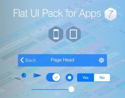 Flat UI Pack for iOS 7 Apps by rebirthpixel