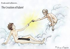 The Creation of Adam by Mil00