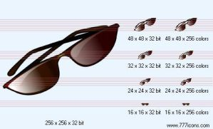 Sun glasses Icon by medical-icon-set