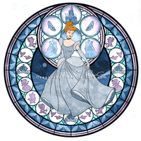Princess Cinderella - Kingdom Hearts Stain Glass by reginaac57