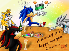 A toast-er to a happy new year x3 by Azurelly