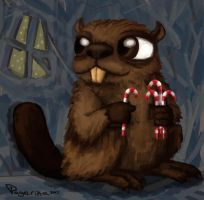 Holiday Beaver by MadamePage