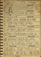 Elvish poem by bookabooka