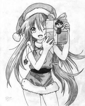 Merry Christmas Shana Shaded by Eduar14