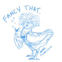 Fancy Chicken - drawing request by Puzzlr
