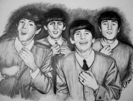 The Beatles by RebeccaJonesArt