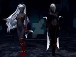 Underdark Sisters by chanandra