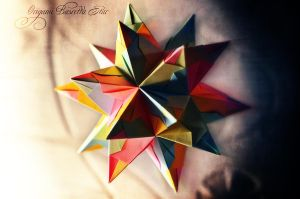 Origami Bascetta Star by SPLinTER-OPS