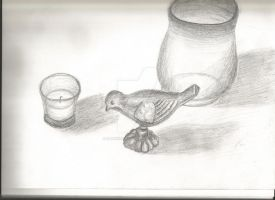Household Item Still Life Sketch by dancingchaos409