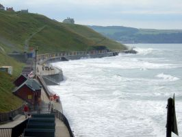 whitby sea front beach huts by Sceptre63
